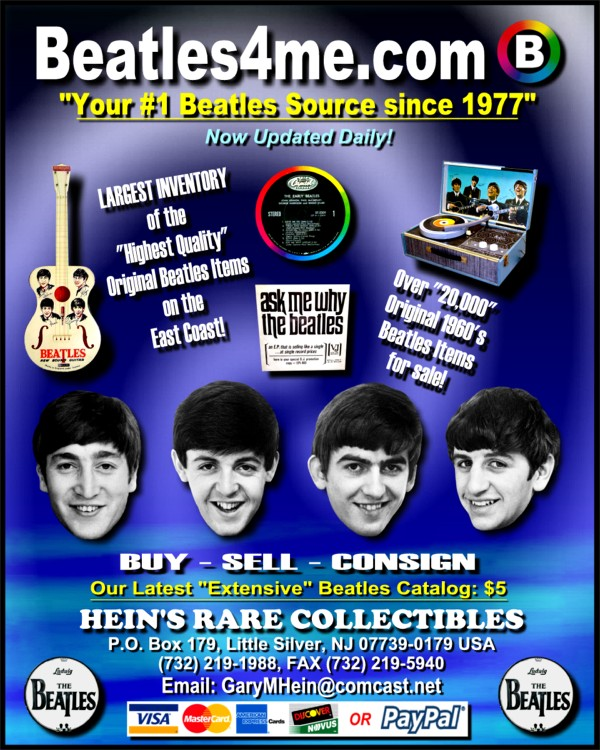 Promo Beatles Record available on our website.  Click here to view!